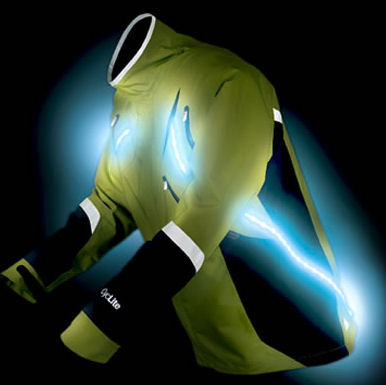 Jacket with lights