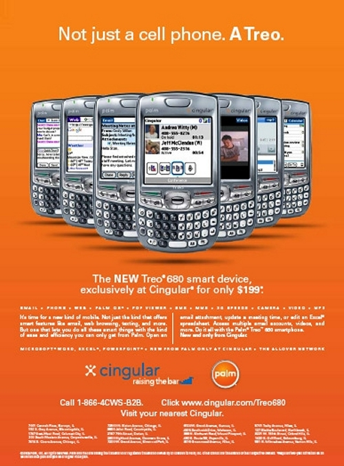 Treo 680 Cingular 8525 Price Release