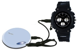 FMP3 Watch has MP3 player and FM transmitter