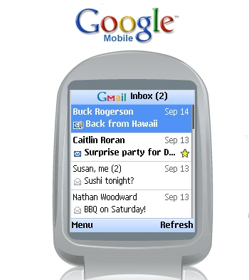 Google GMail For Mobile Devices