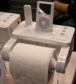 iPod Accessory - Toilet Paper Roll Dock
