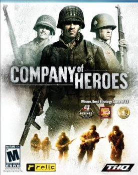 company of heroes rts game review box cover