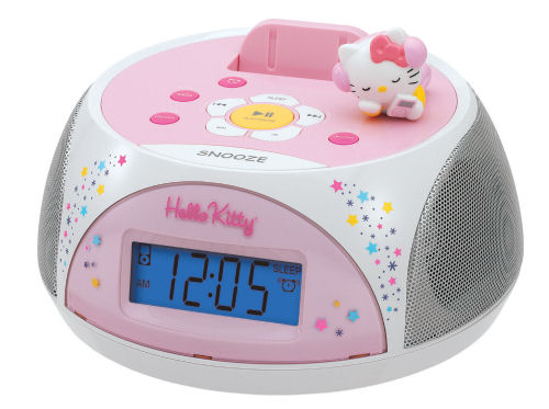 Hello Kitty iPod Docking Station Clock Radio