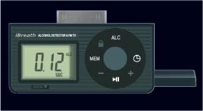 iBreath iPod Breathalyzer and FM Transmitter