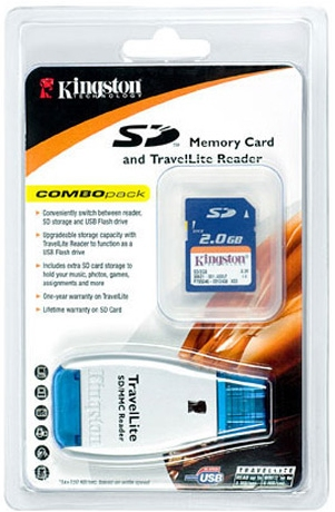 Kingston TravelLite Reader With 2GB SD Card