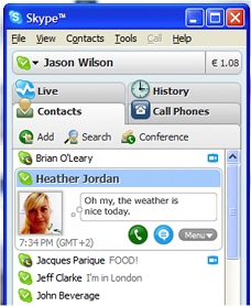 Skype on Windows Smarftphone