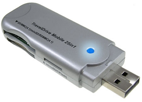 TravelDrive Mobile 25 in 1 Card Reader