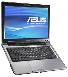 asus A8Jr Notebook with ATI mobility X2300