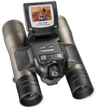 five megapixel binocular camera with LCD screen