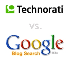 Google Blog Search vs. Technorati