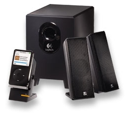 Logitech X-240 Speakers with iPod and Zune Cradle
