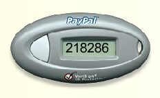 Paypal increases security with key fob password codes.