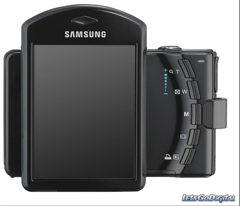 Samsung i7 digital camera with rotating screen