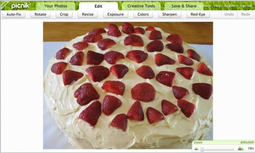 Picnik is cake
