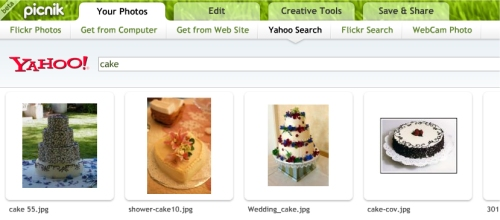 Online Photo Searching with Picnik