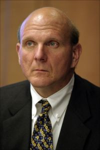 Steve Ballmer talks about sluggish sales and piracy with Microsoft Vista