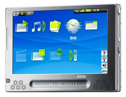 Archos 704 WiFi portable audio and video player announced