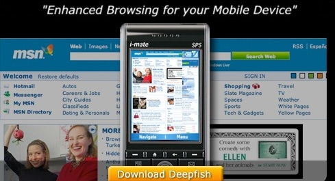 Microsoft Deepfish mobile web browser