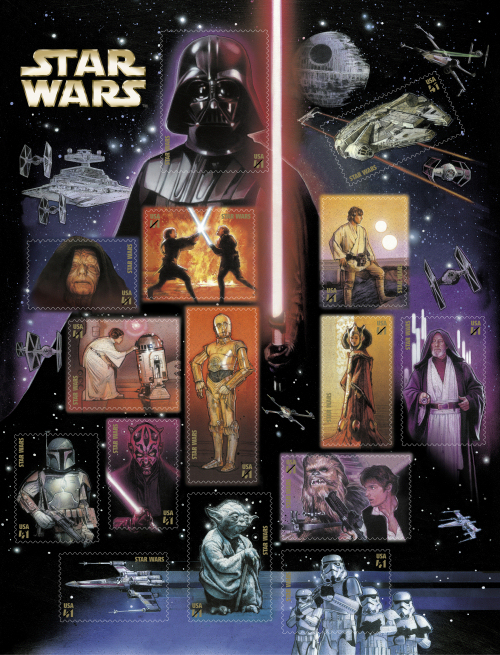 Star Wars Stamps from the US Post Office