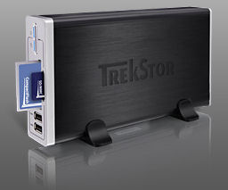 Trekstor maxi t.uch hard drive and card reader