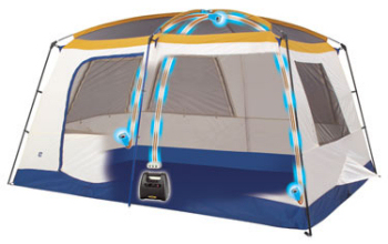 Eureka N!ergy tent has battery and power outlets
