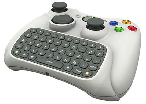 Controller for Xbox 360 with QWERTY keyboard