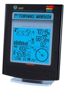 Honeywell TN924W weather station for home has public alerts for tornados and other natural disasters