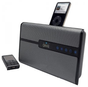Houseparty Blue Bluetooth speakers and iPod dock