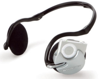 iFreePlay headphones have a dock for the iPod shuffle without wires.