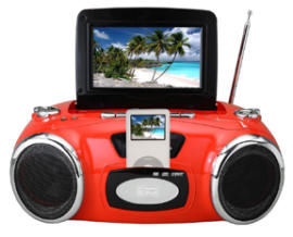 iPod video boombox dock
