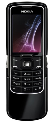 Nokia 8600 Luna mobile phone crafted of glass