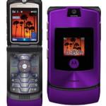 Purple MOTORAZR V3i from Motorola