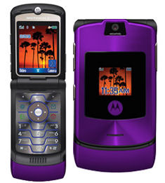 Purple MOTORAZR V3i from Motorola