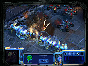 Starcraft II gameplay screenshot