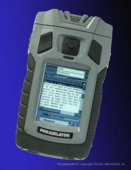 Voxtec Phraselator P2 for translating languages from voice