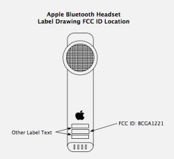 Apple Bluetooth headset FCC drawing
