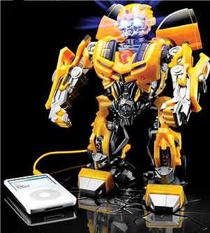 Beatmix Bumblebee Speaker for iPod moves and flashes lights