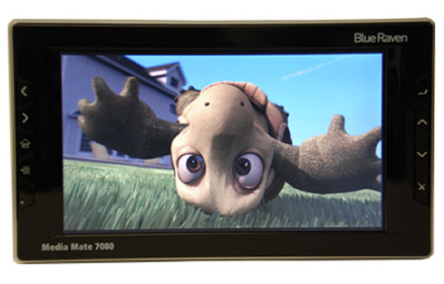 Blue Raven Mediamate 7080 media player and portable DVR with 7″ screen