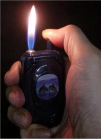 Cell phone cigarette lighter