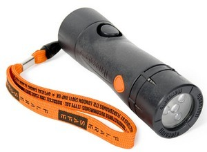 FlareSafe safety flashlight features smoke detector and siren.