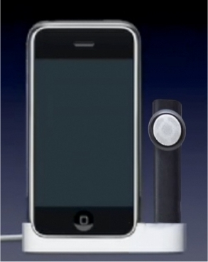 iPhone Docking station with bluetooth headphone charging included