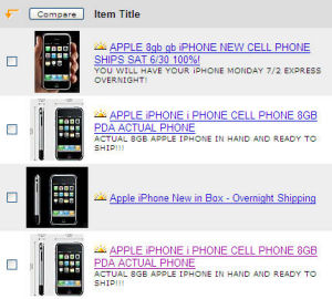 iPhones showing up on Ebay