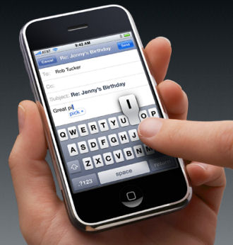 iPhone video added to Apple site showing keyboard and typing