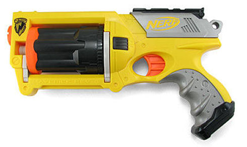 Nerf Maverick sidearm six-shooter