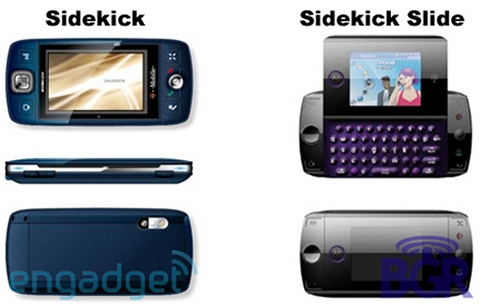 Renderings of possible Sidekick Slide and Sidekick 4 from T-Mobile