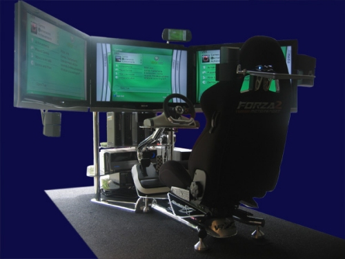 vrx triple screen racing simulator slipperybrick com