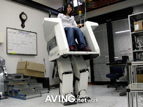 Hubo FX-1 chair robot that walks on two legs while your sitting in it