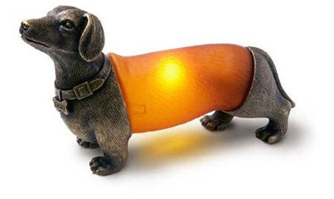 Wiener dog lamp