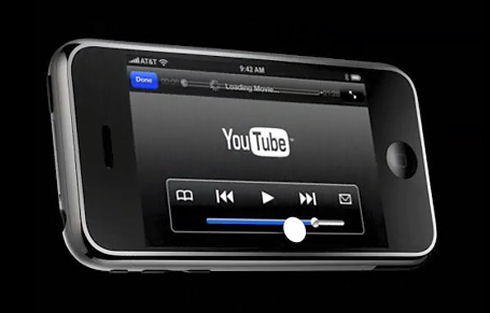 Apple announced the availability of YouTube on iPhone
