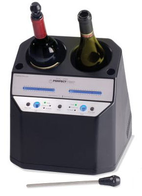 Dual wine bottle chiller can chill two bottles at once to different temps